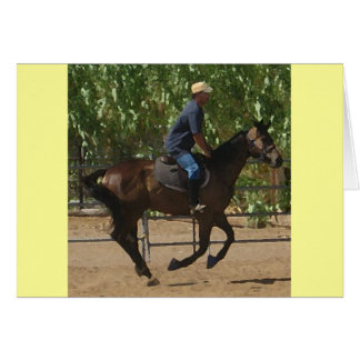 Thoroughbred Horse Rehabilitation - Equine Blank Card