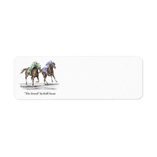 Thoroughbred Horses Racing Return Address Label
