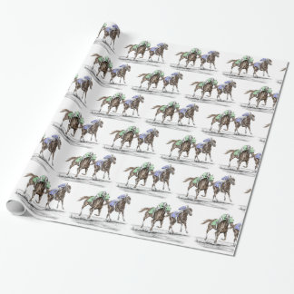Thoroughbred Horses Racing Wrapping Paper