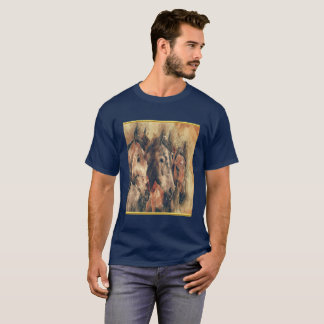 Thoroughbred horses running in a field T-Shirt
