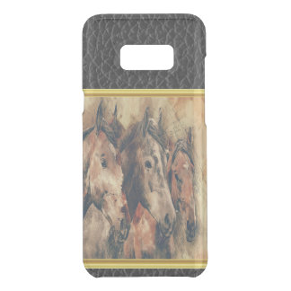 Thoroughbred horses running in a field uncommon samsung galaxy s8 plus case