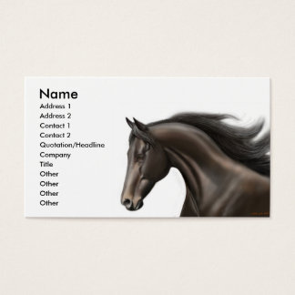 Thoroughbred Profile Card