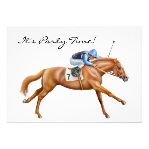 Thoroughbred Race Horse Invitation