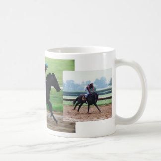 Thoroughbred race horse-morning workout mug