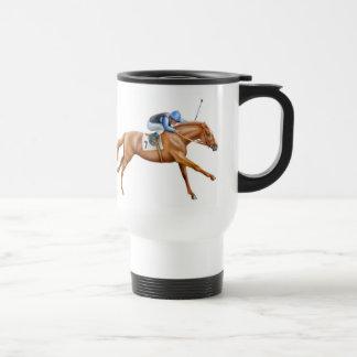 Thoroughbred Race Horse Travel Mug