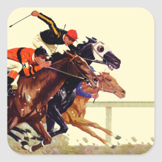 Thoroughbred Race Square Sticker