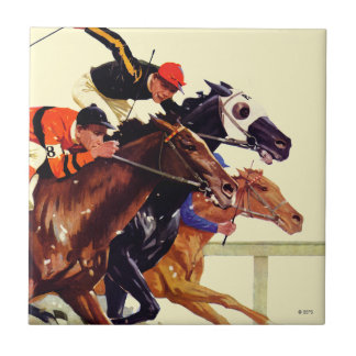 Thoroughbred Race Tile