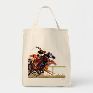 Thoroughbred Race Tote Bag