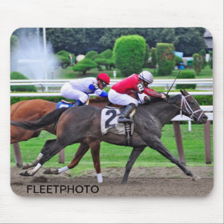 Thoroughbred Racing at Historic Saratoga Racetrack Mouse Pad