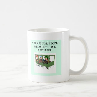 thoroughbred racing lovers coffee mug