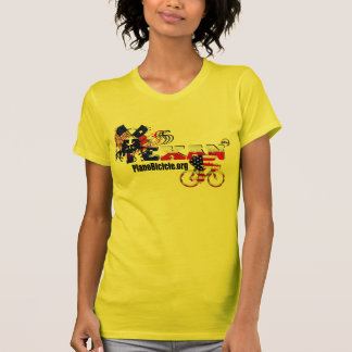 Thoroughbred Texan ladies Yellow Cycle t-shirt