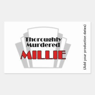 Thoroughly Murdered Millie Rectangular Sticker