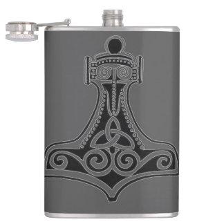 Thor's Hammer (Grey) Hip Flask