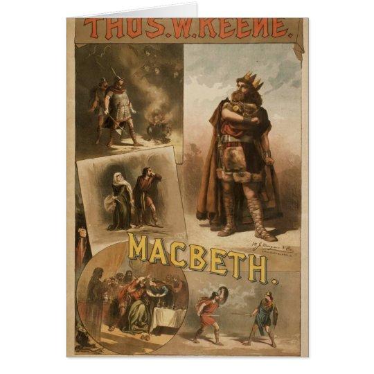 Thos .W. Keene, 'Macbeth' Retro Theatre Card