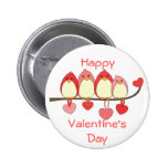 Those Birds On Valentines DAy Pinback Button