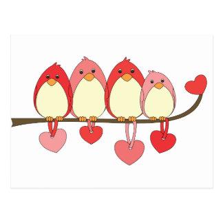 Those Birds On Valentines DAy Postcard