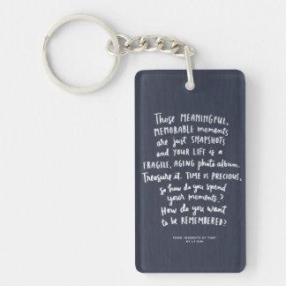 """Those Meaningful Memorable Moments"" Keychain Single-Sided Rectangular Acrylic Keychain"