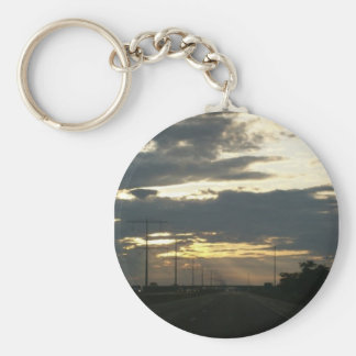 Those summer nights basic round button key ring