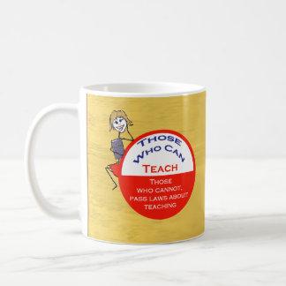 Those Who Can Teach Stick Figure Coffee Mug