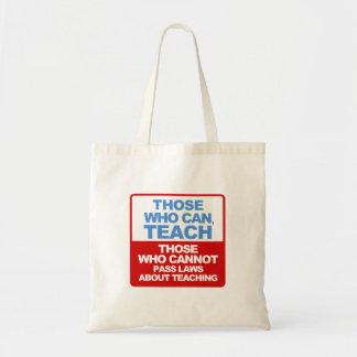 Those who can, teach teacher's bag