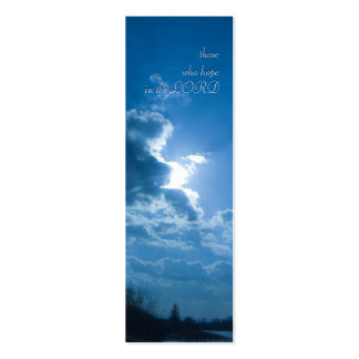 those who hope in the LORD - Bookmark Pack Of Skinny Business Cards