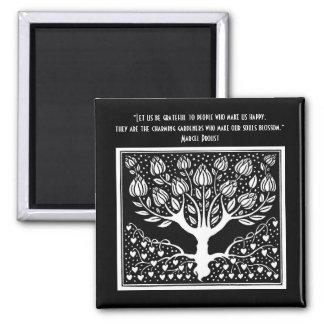 Those who make the soul blossom square magnet