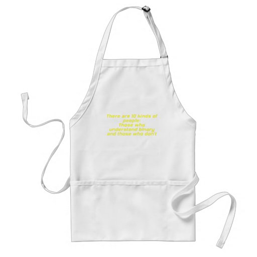 Those who understand binary and those who dont apron