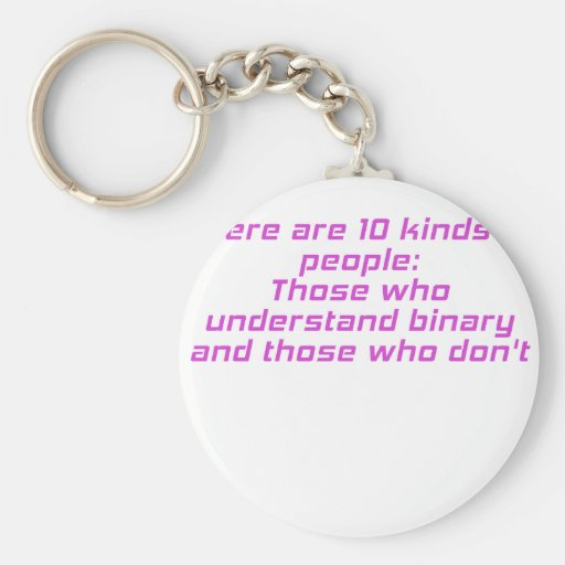 Those who understand binary and those who dont key chain