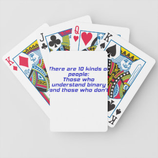 Those who understand binary and those who dont deck of cards