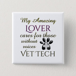 Those Without Voices Lover Vet Tech 15 Cm Square Badge