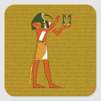 Thoth, Ancient Egyptian God Square Sticker