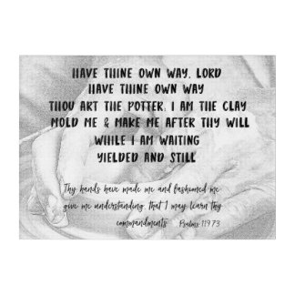 Thou art the Potter; I am the Clay with Psalms