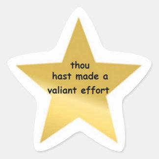 Thou Hast Made a Valiant effort Star Sticker