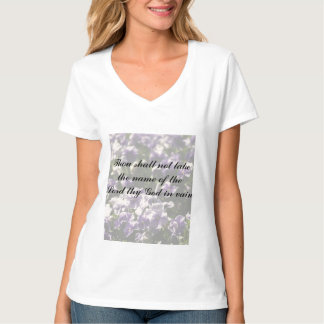 Thou Shall Not Take Name of God in Vain T-Shirt