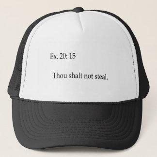 Thou shalt not steal apparel trucker hat