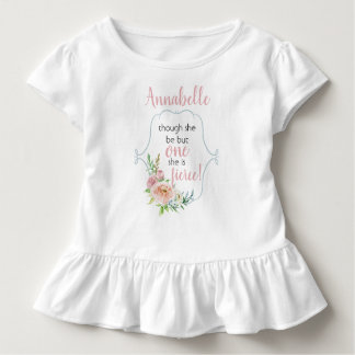 Though She Be But One She Is Fierce Toddler T-Shirt