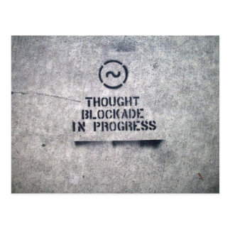 Thought Blockade Postcard