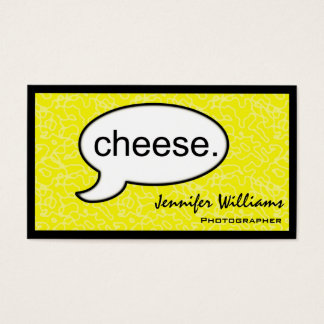 Thought Cloud Cheese Photographer Business Card