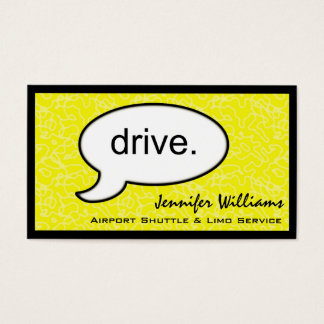 Thought Cloud Drive Limo Business Card