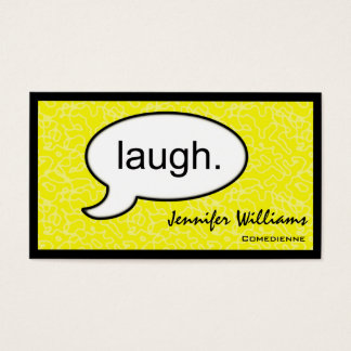 Thought Cloud Laugh Comedian Business Card