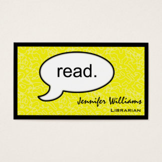 Thought Cloud Read Librarian Business Card