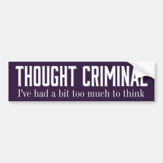 Thought Criminal Stickers