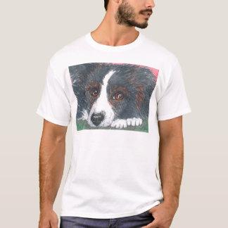 Thoughtful Border Collie Dog T-Shirt