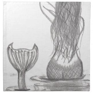 Thoughtful Mermaid Napkin