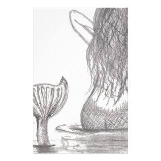 Thoughtful Mermaid Stationery