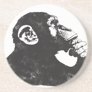 Thoughtful Monkey Coasters
