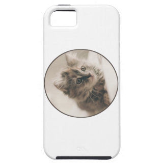 Thoughtful, Soulful Kitten Tough iPhone 5 Case
