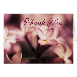 Thoughtfulness Greeting Card Thank You Lilac