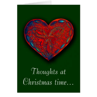 Thoughts at Christmas time... Romantic greeting Greeting Card