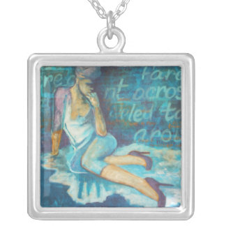 """Thoughts"", Fine Art Fashion Necklace Pendant"